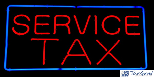 Service Red Neon Sign