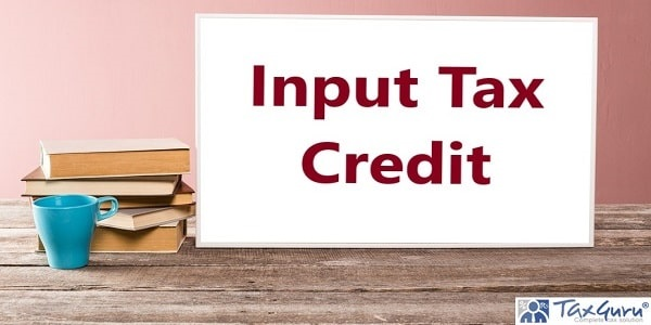 Text Input Tax Credit write on White Board
