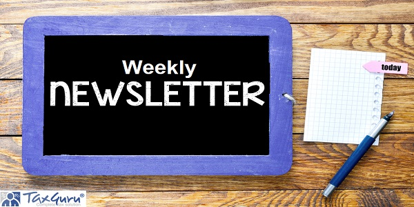 Weekly Newsletter sign on chalkboard