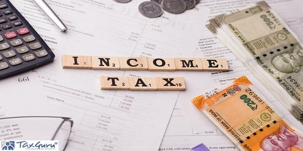 Word INCOME TAX written on wooden cubes stock image