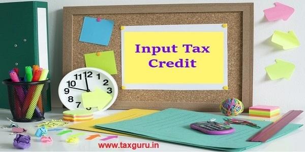 Writer input tax credit in yellow card