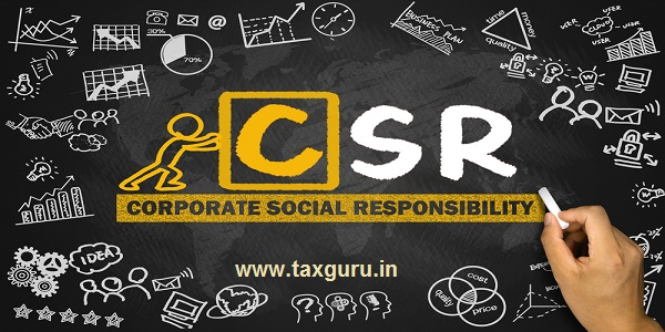 corporate social responsibility concept hand drawing on blackboard