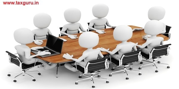 human character, person at conference table - 3d render