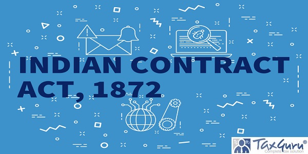 Conceptual business illustration with the words indian contract act, 1872