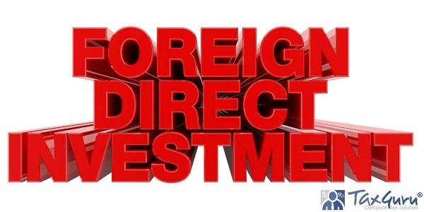 FOREIGN DIRECT INVESTMENT red word on white background illustration 3D rendering