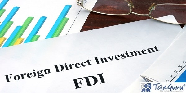 Foreign direct investment FDI form on a table