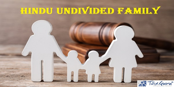 Hindu undivided family - Figure in shape of people and gavel on wooden table