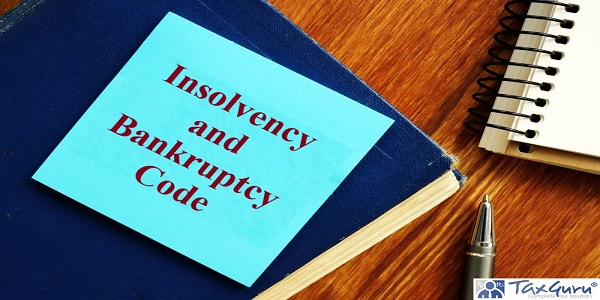 Insolvency and Bankruptcy Code is shown on the conceptual business photo