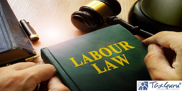 Labour law on an office table.