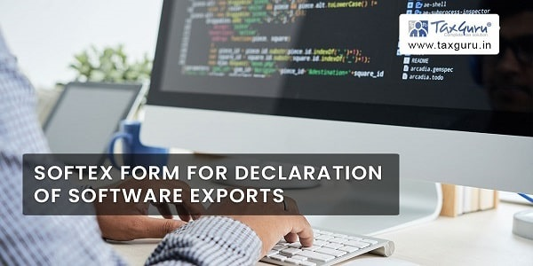 SOFTEX Form for declaration of Software Exports