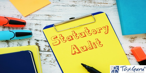 Statutory Audit phrase on the piece of paper