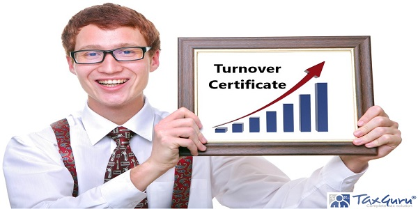 Turnover certificate for various purposes