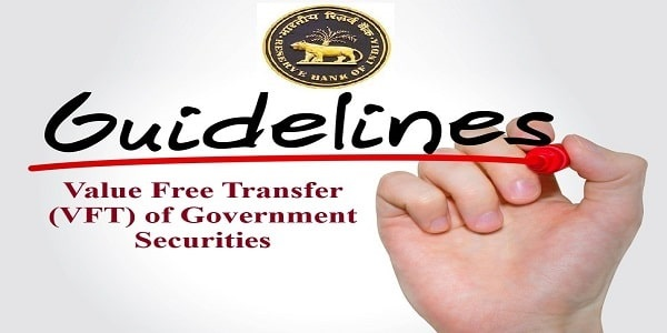 Value Free Transfer (VFT) of Government Securities