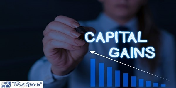 Writing note showing Capital Gains