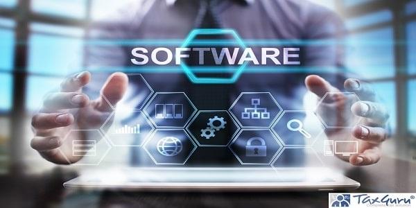 business man using modern tablet computer - software concept